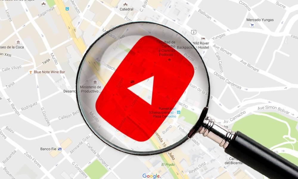 como encontrar videos en youtube por su ubicación